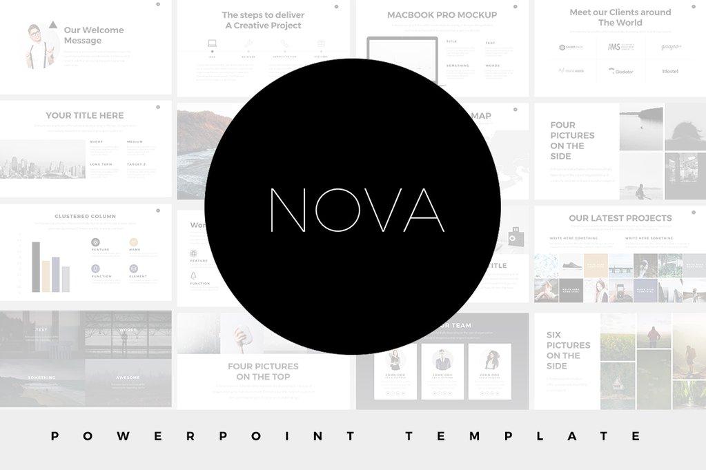 Nova Minimal Powerpoint Template