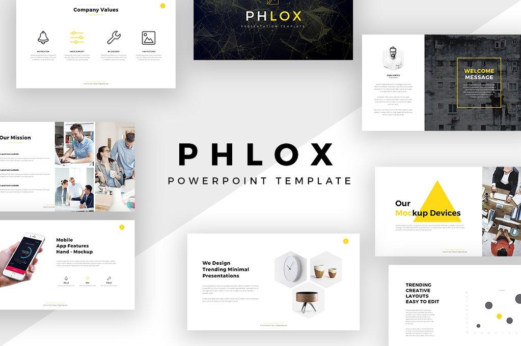 Phlox Minimal PowerPoint Template