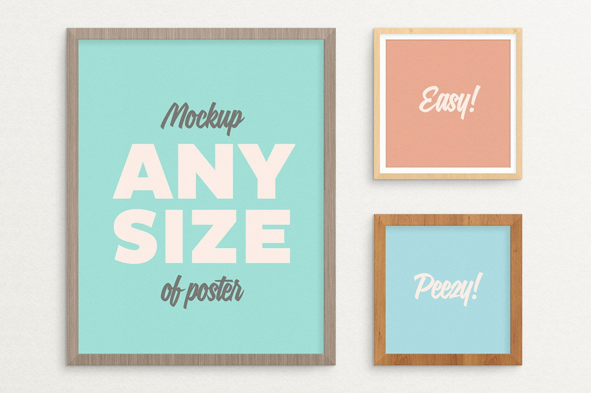 Poster Frame Mockup fits ALL sizes