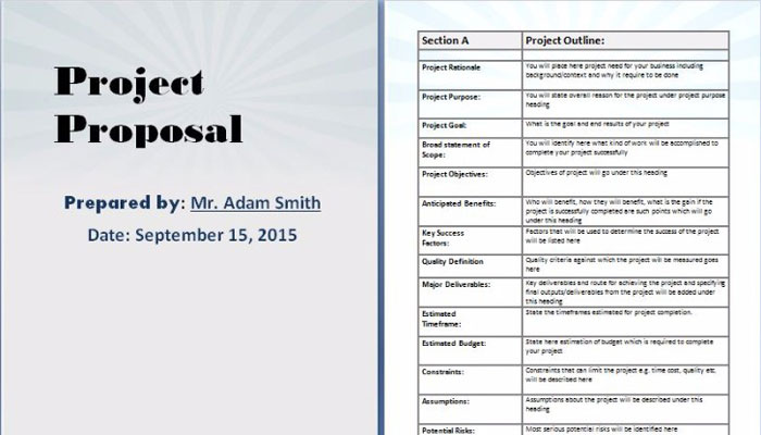 Project Proposal Templates  Proposals Templates