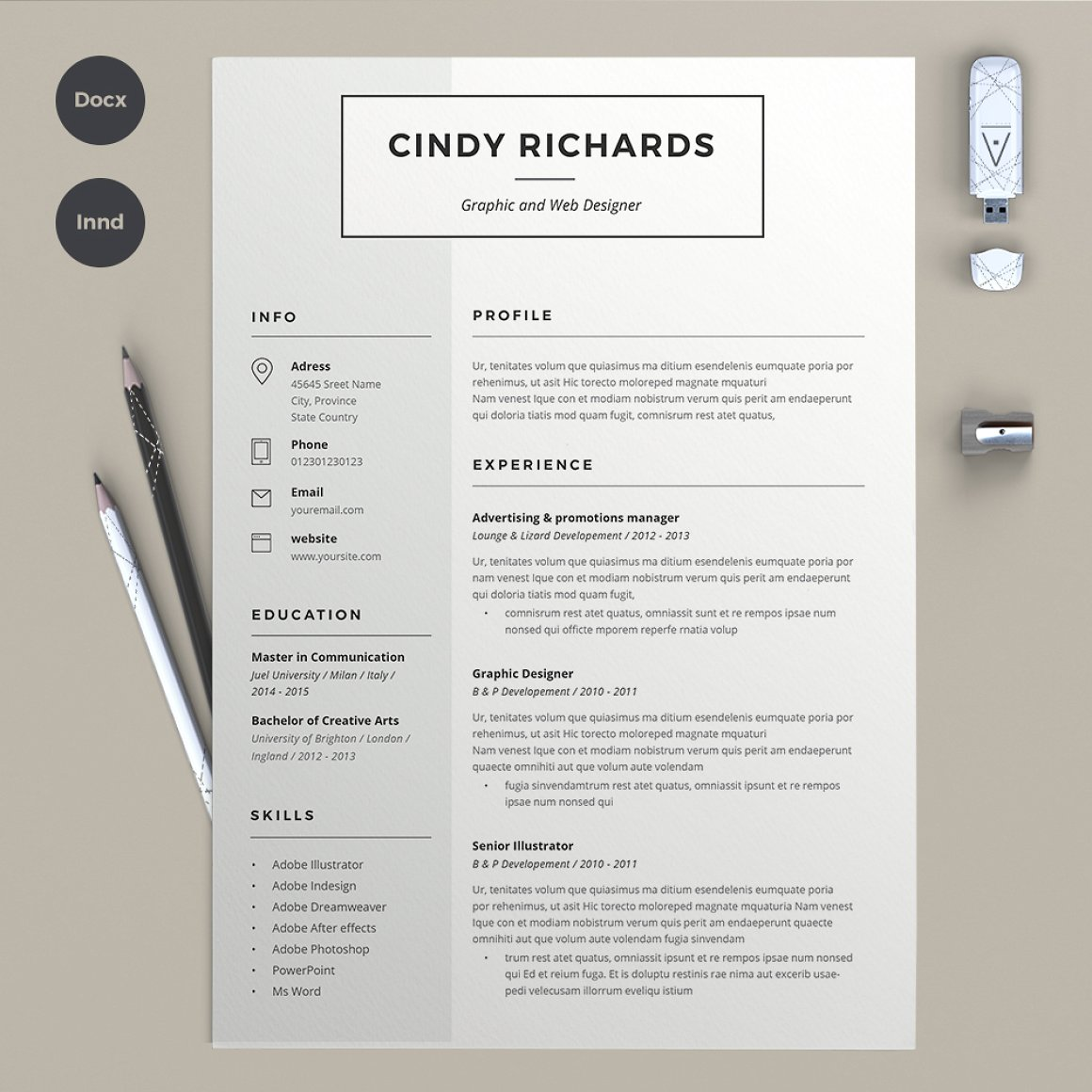 Resume Cindy 2 pages