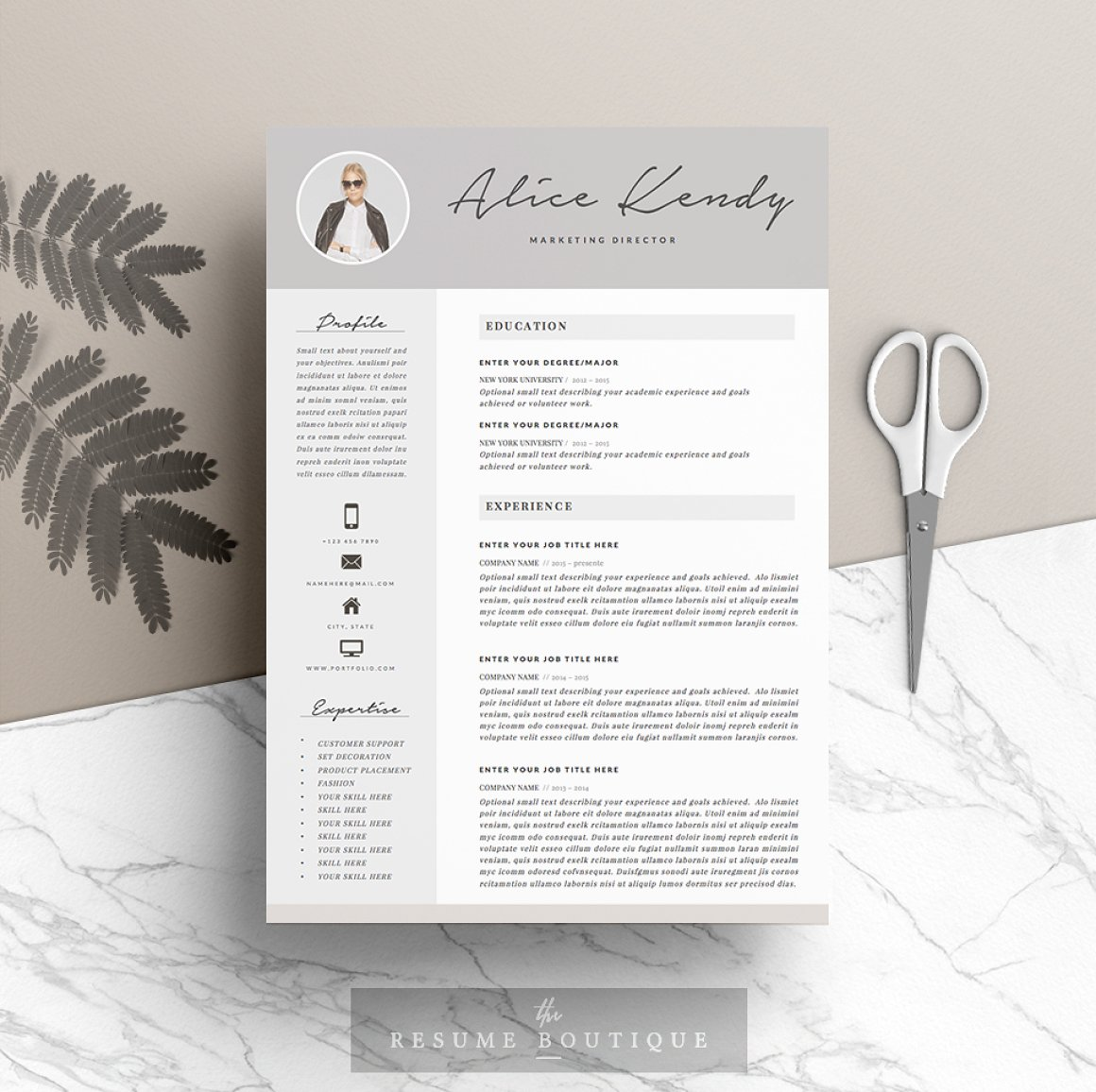 Resume Template 4 pages Charming