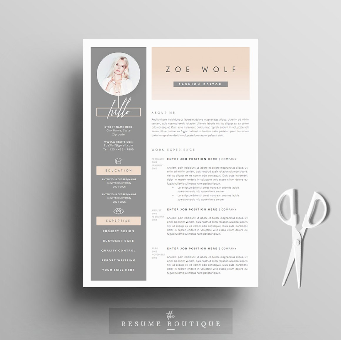Resume Template 5pages Dolce Vita
