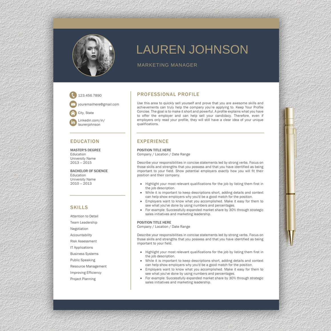 Resume Template Cv Cover Letter  Concise Resume Template