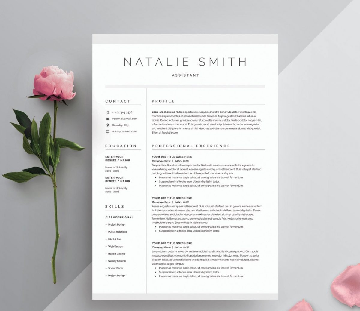 Word Resume and Cover Letter Template