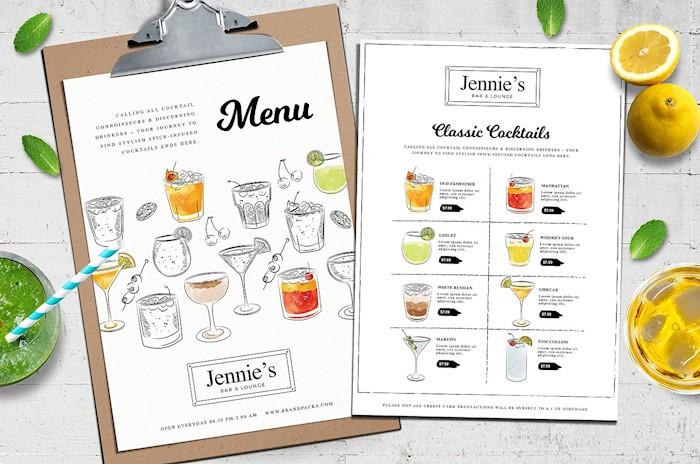 a4-cocktail-menu-template