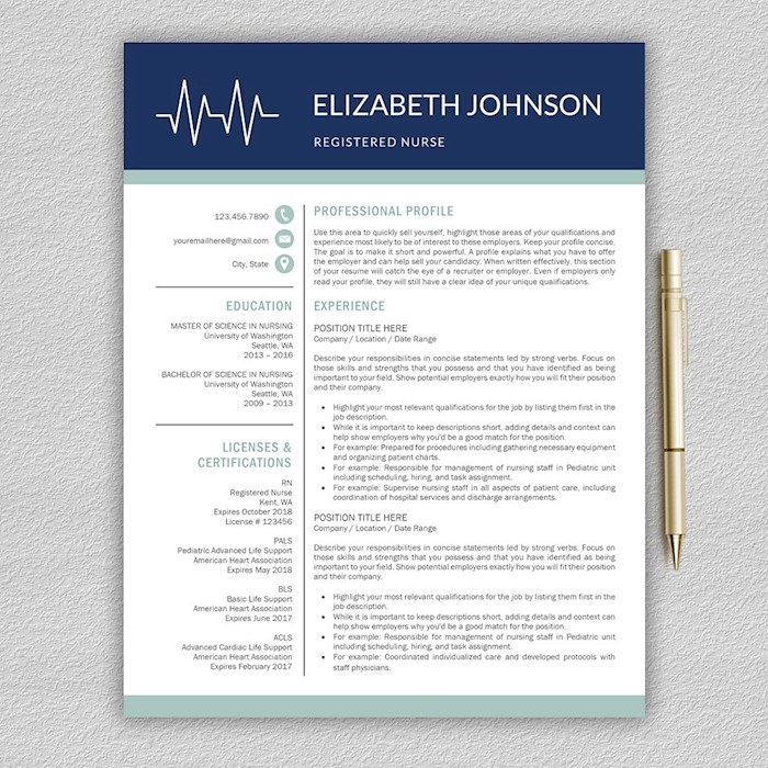 21 professional nursing resume templates for 2018