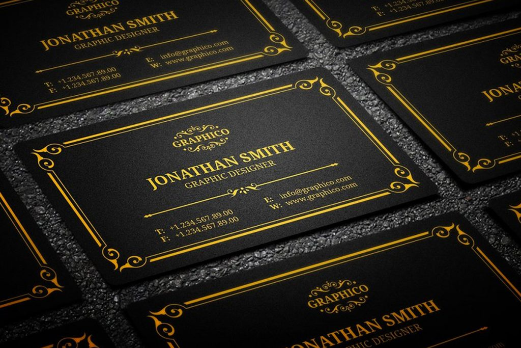 25 black and gold business card templates black and gold business card templates friedricerecipe Choice Image