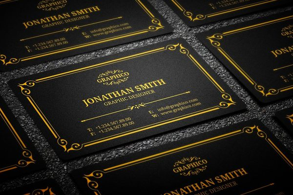 Black And Gold Business Card Templates