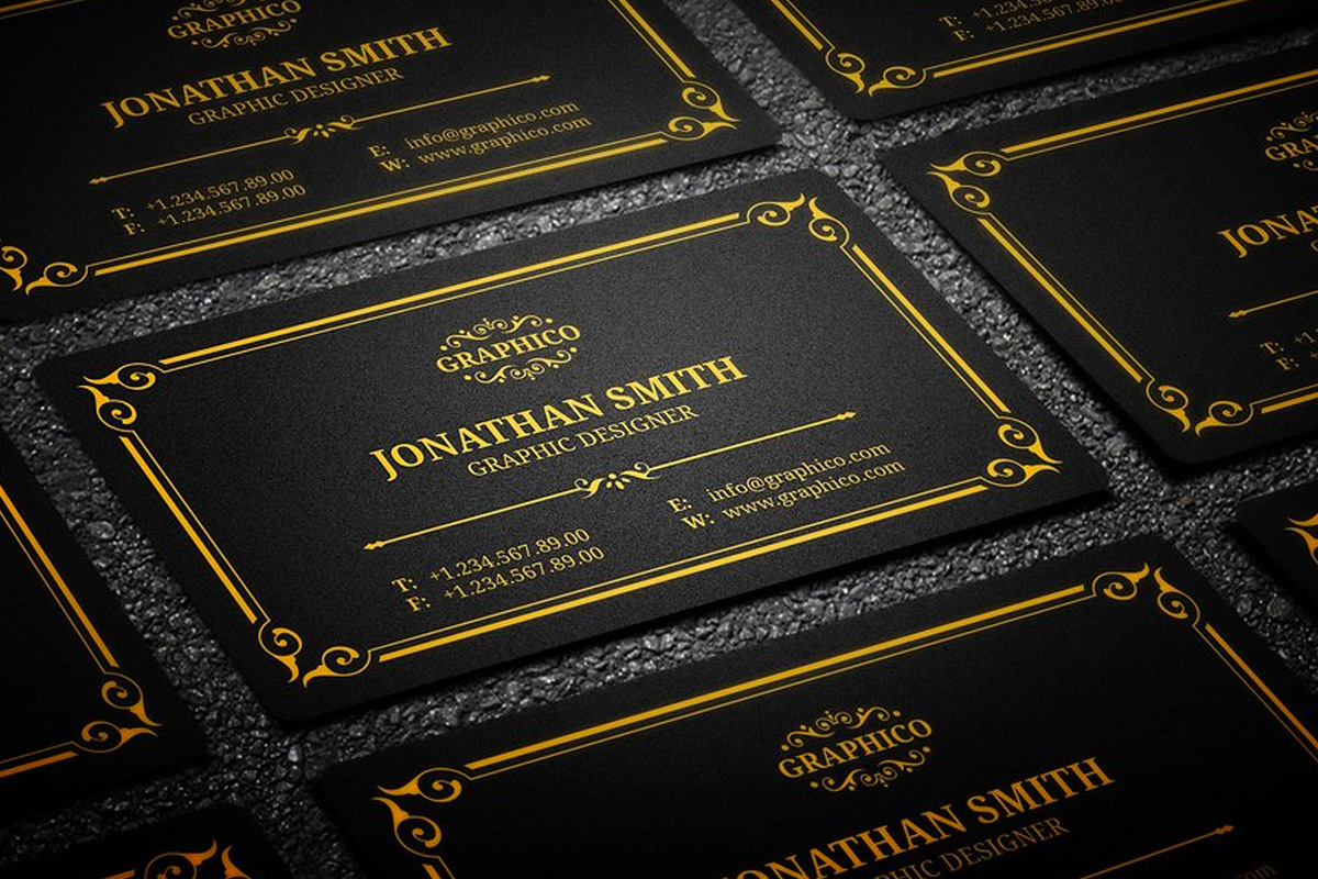 25 black and gold business card templates colourmoves