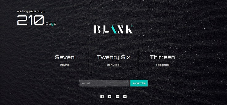 Blank Responsive Coming Soon Template