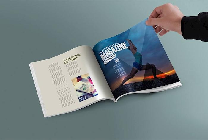 browsing-a-magazine-mockup