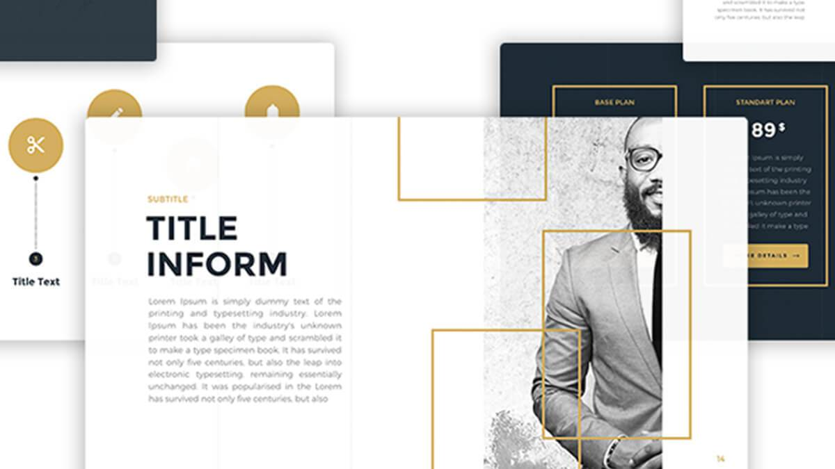35 best free powerpoint templates for professional presentations business gold free powerpoint template alramifo Gallery
