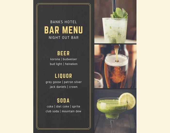 Drink Menu Template | 23 Printable Premium And Free Drink Menu Templates Updated 2018