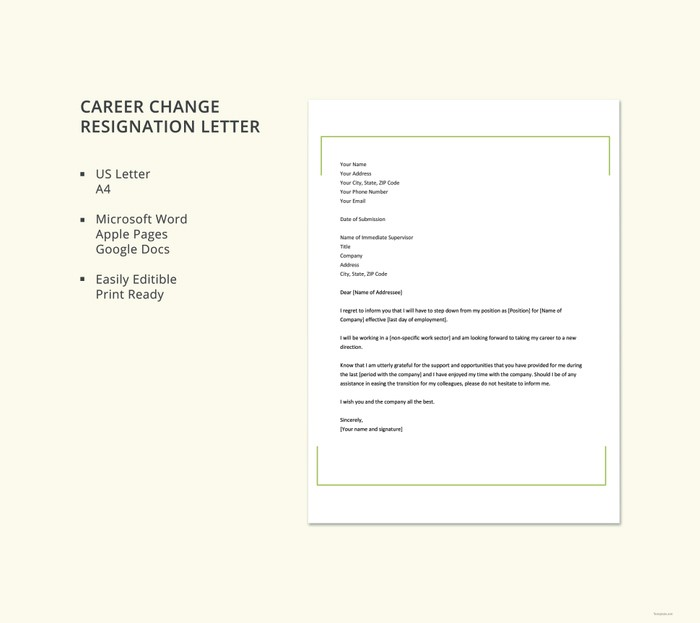 career-change-resignation-letter