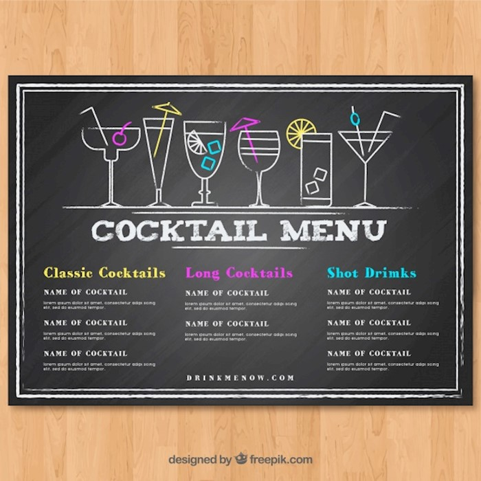 Printable Premium And Free Drink Menu Templates Updated