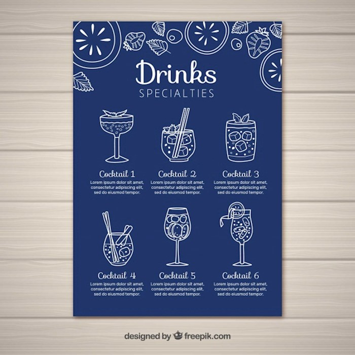 cocktail-menu-template-in-flat-style