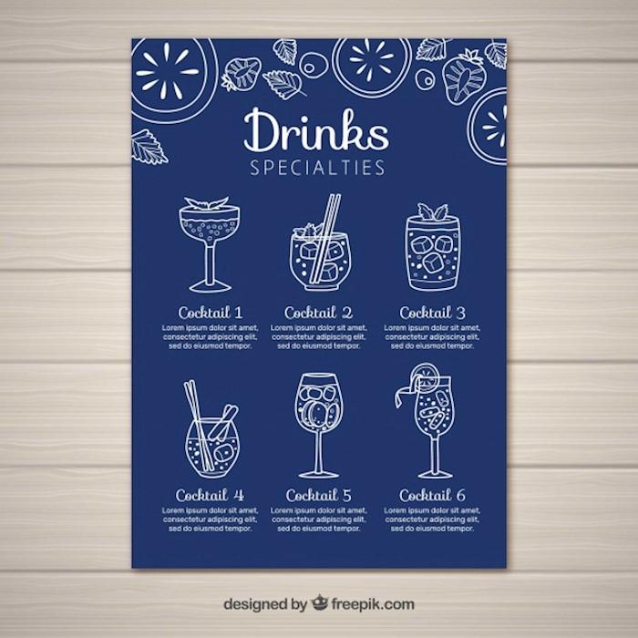 23  printable premium and free drink menu templates