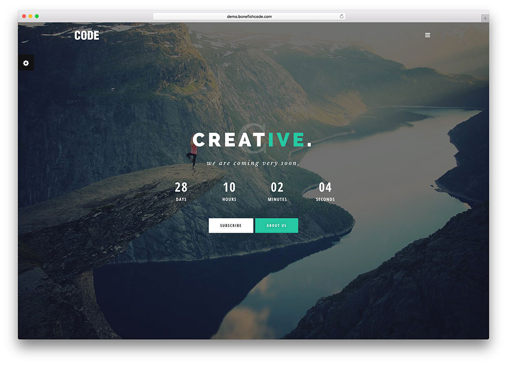 CODE Responsive Coming Soon Template