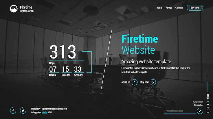 Firetime A Freshly New creative template for Coming soon page