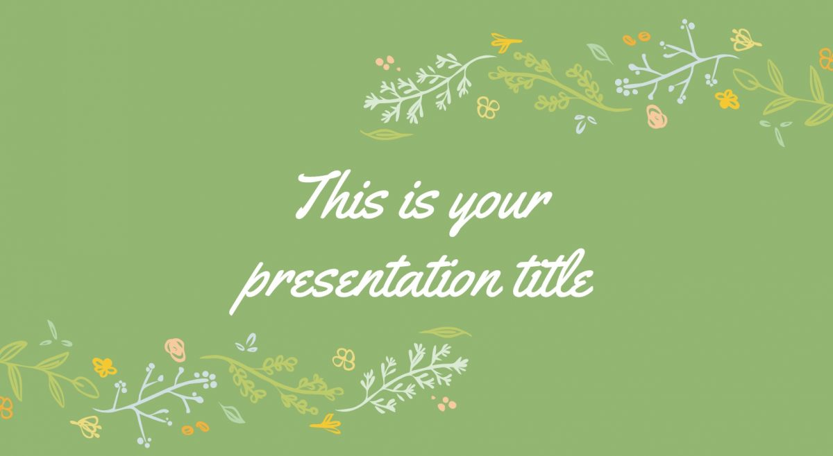 floral google slides theme