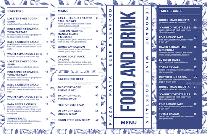 food-drink-menu