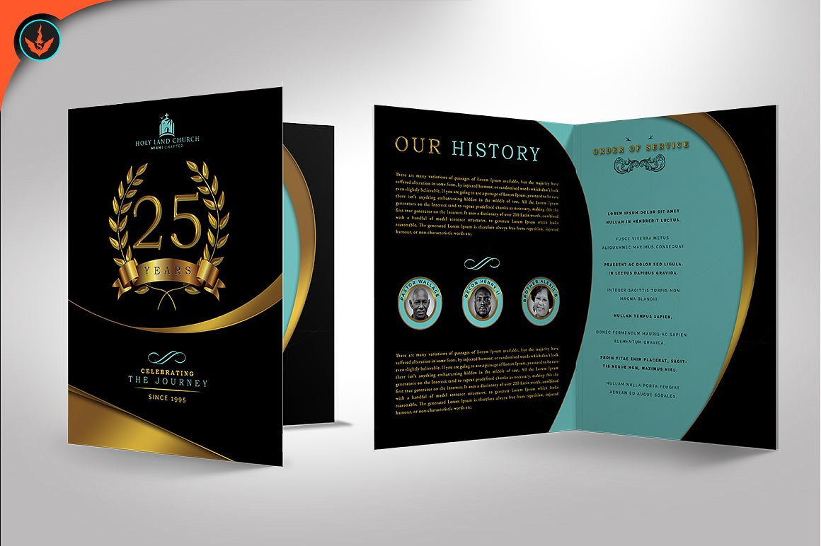 Gold and Black Anniversary Program
