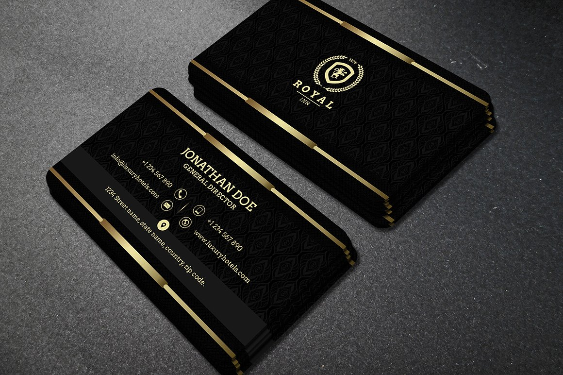 Gold and Black business card 40
