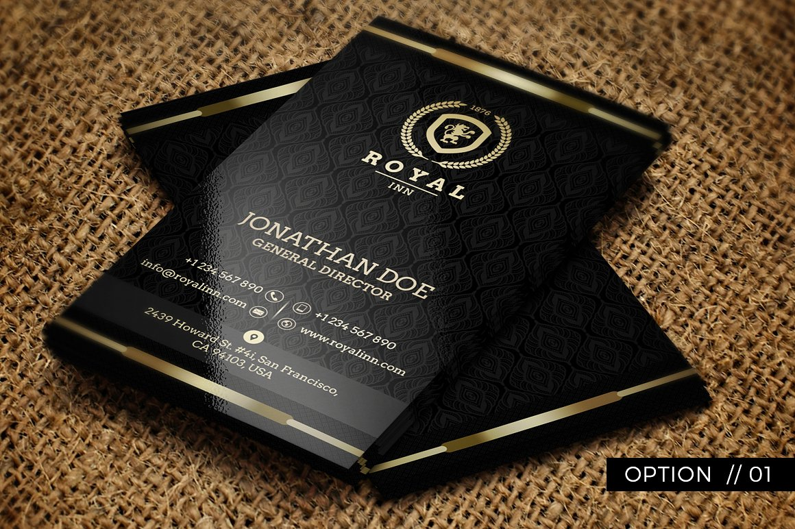 Gold and Black Business Card 52