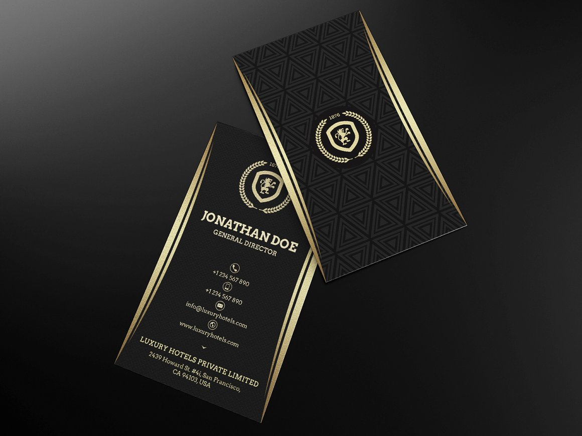 Gold and Black Business card 55