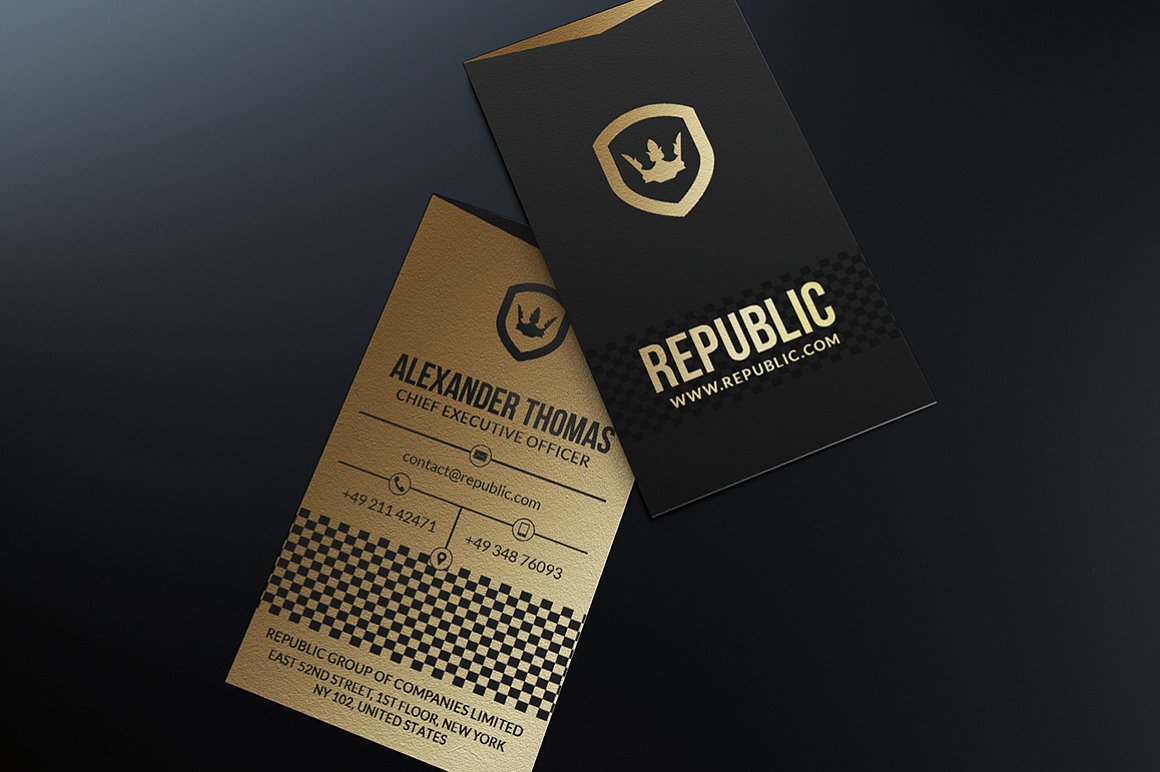 Gold And Black Business Card I