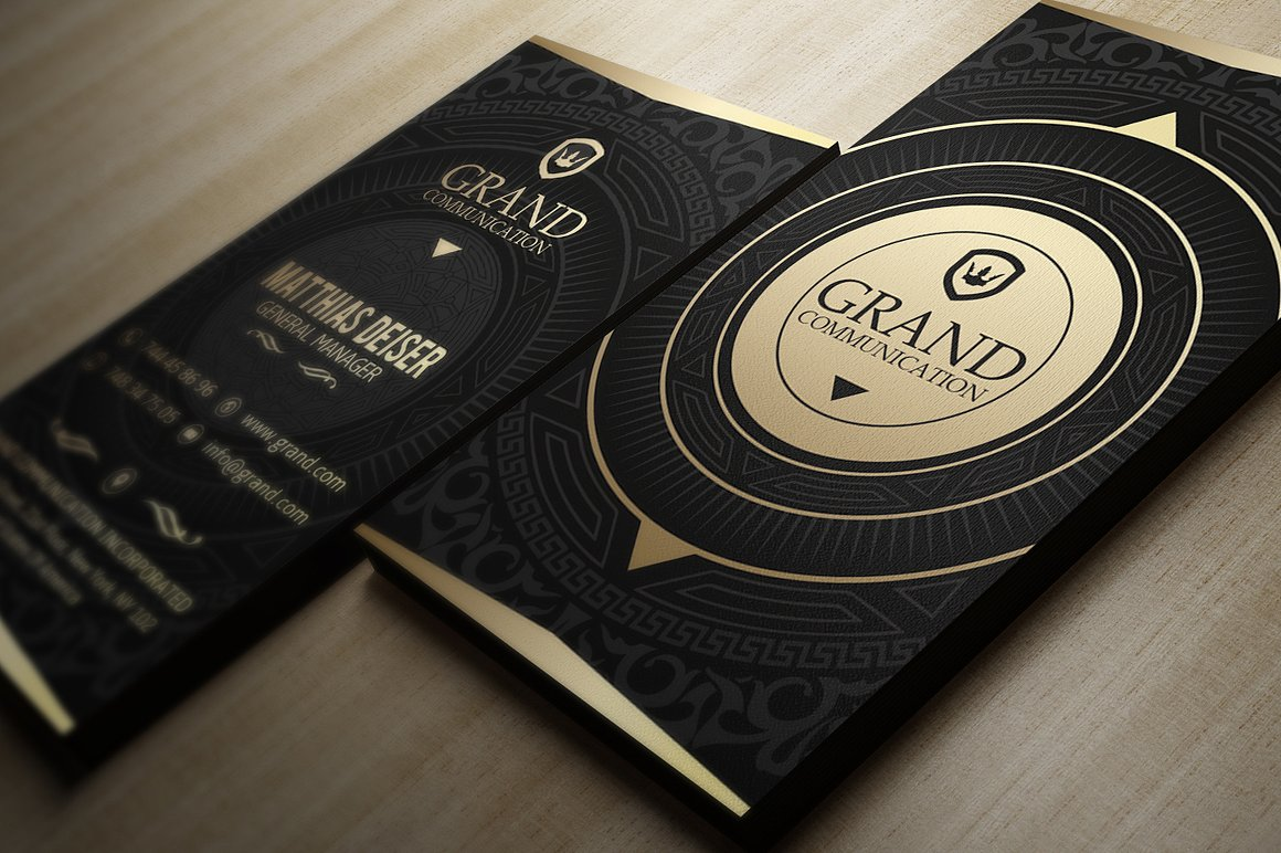 Gold And Black Business Card Templates