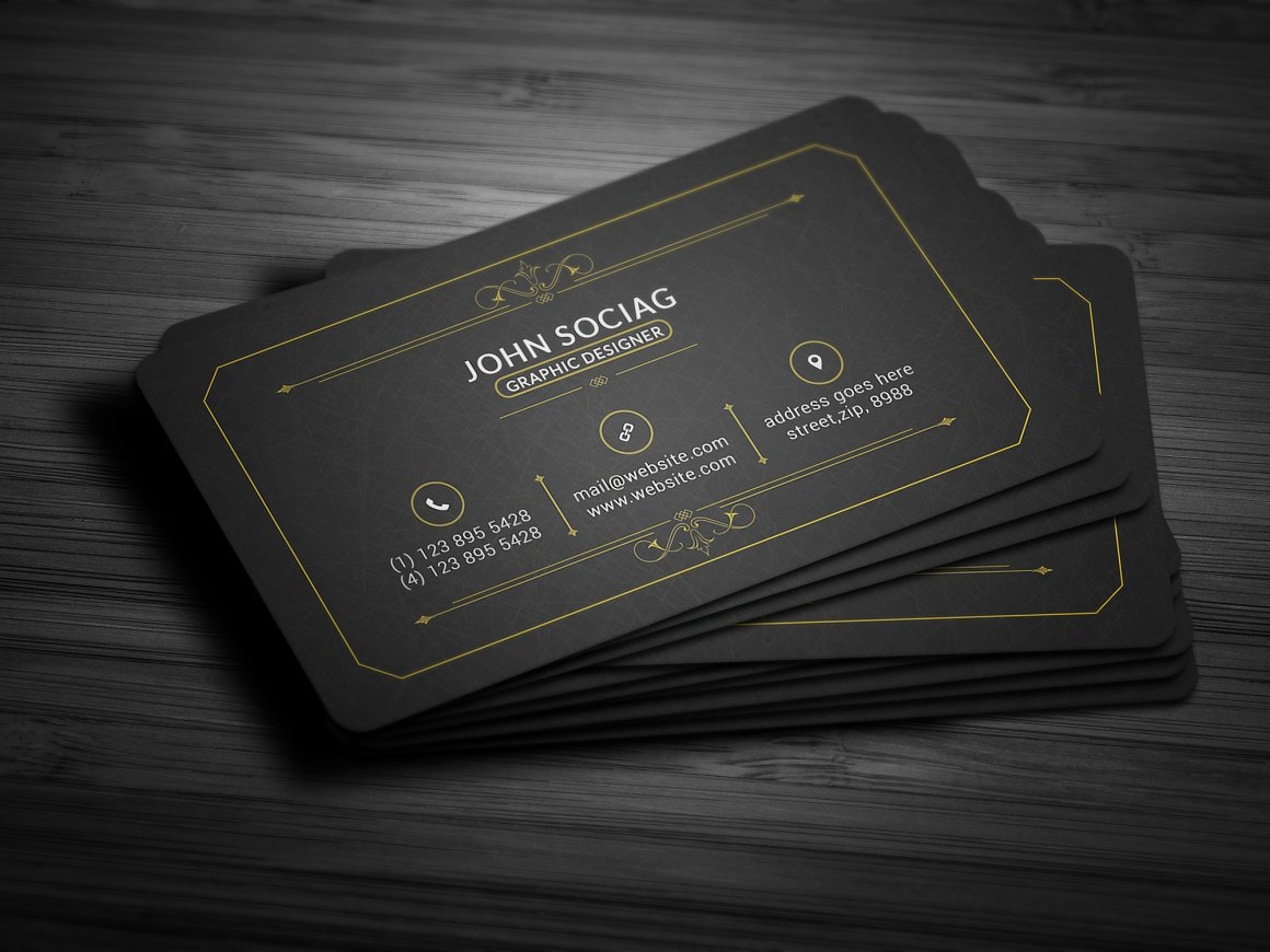 25 black and gold business card templates gold black business card templates accmission Gallery
