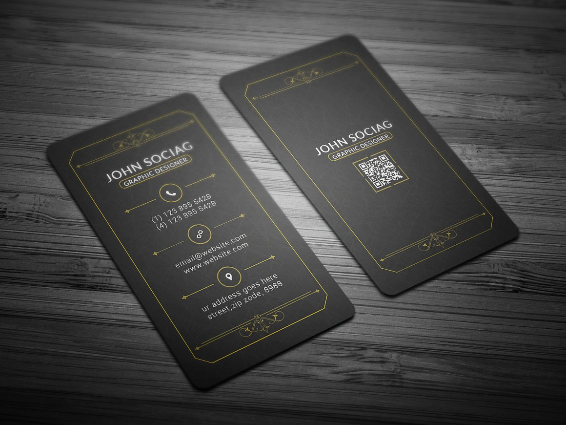 Gold Black Business Card