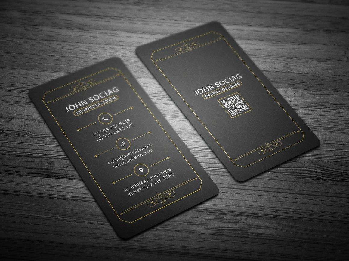 Gold Black Business Card
