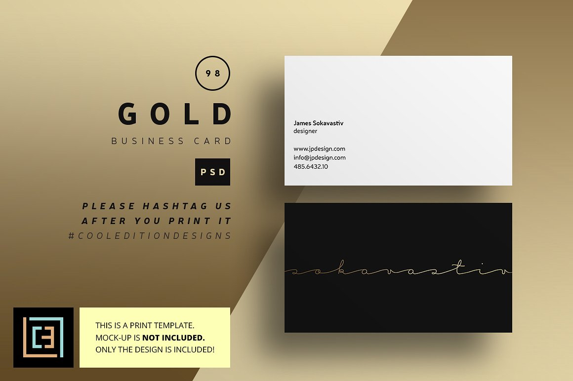 Gold Business Card 98