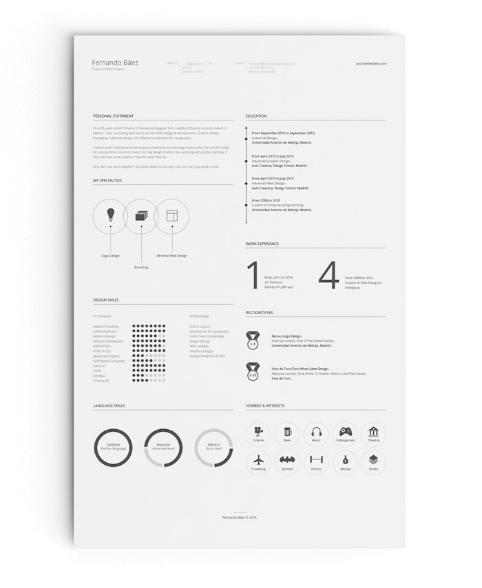 25 best free simple resume templates for 2018