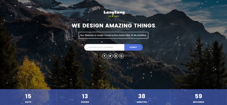Langtang Coming Soon Template