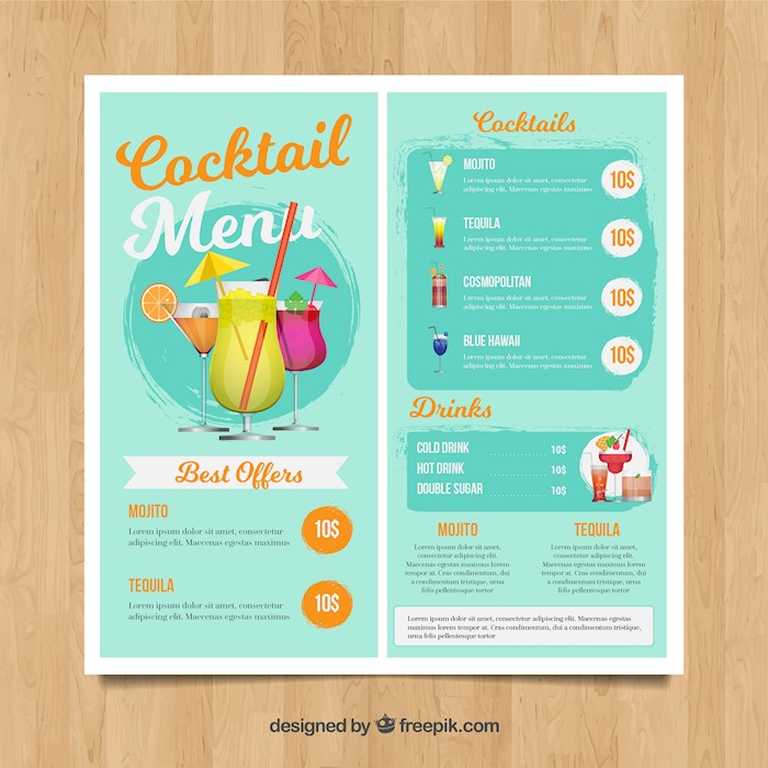 light-blue-cocktail-menu