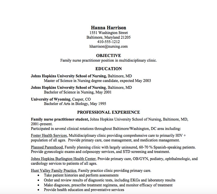 nurse practitioner resume - Nurse Practitioner Resume