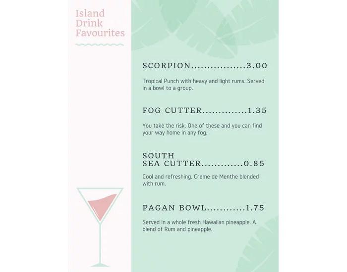 pastel-pink-and-green-hawaiian-beach-bar-menu