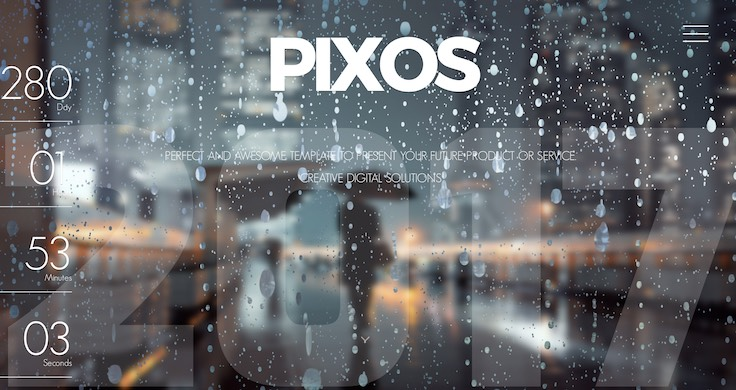 Pixos Responsive Coming Soon