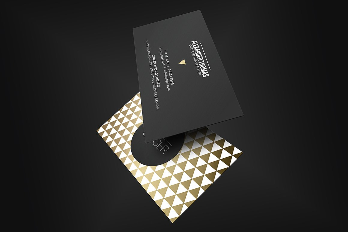 Premium Gold Business Card
