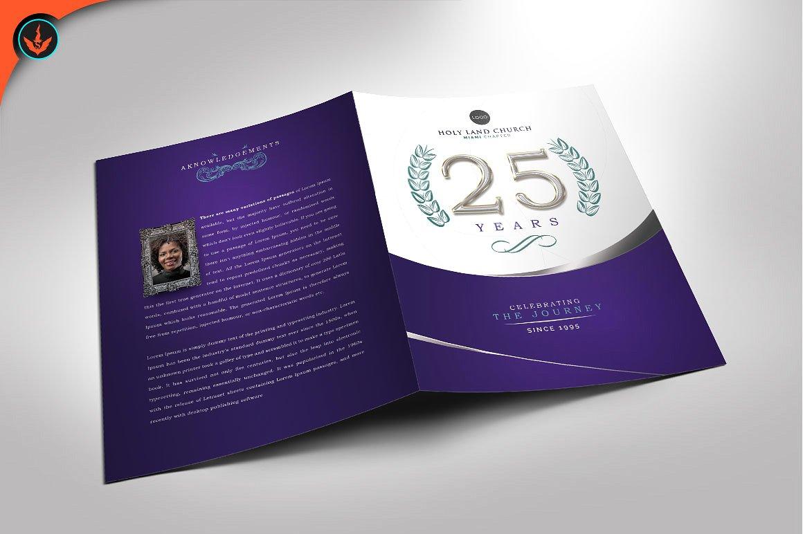 Purple and Silver Anniversary Program