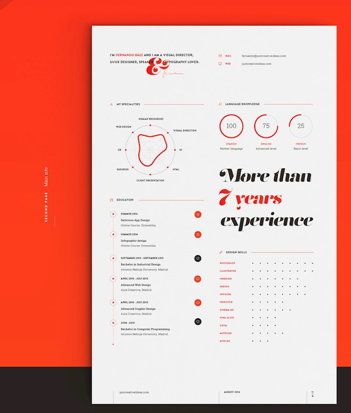 red-resume-cv