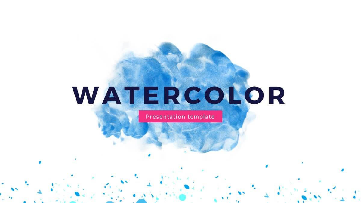 Watercolor Free Powerpoint Template