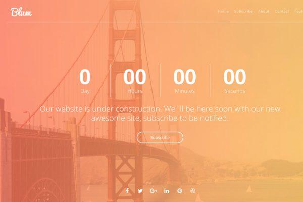 HTML5 Website Under Construction