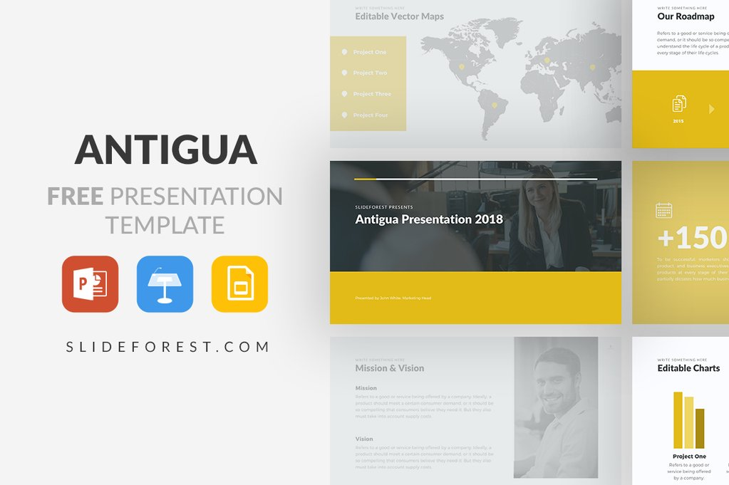 Antigua Free Presentation Template