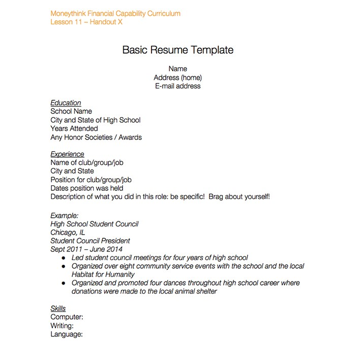 basic-resume-students