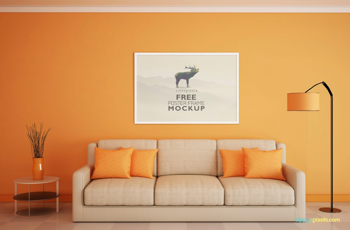 Beautiful free Poster Frame Mockup